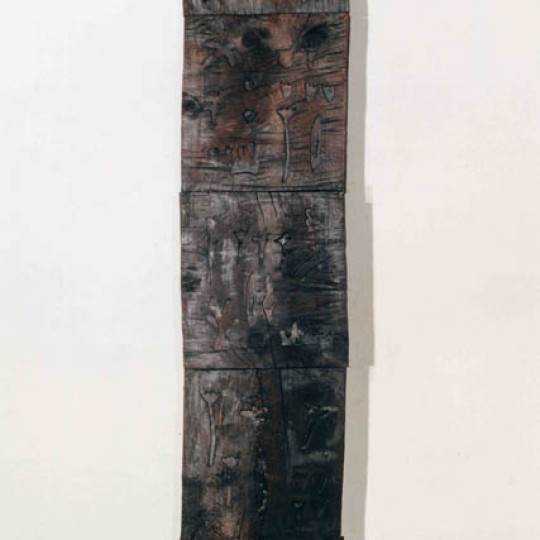 Madera impresa con fuego  203x14 cm