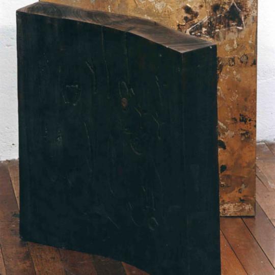 Madera y Hojilla de oro 49x40x47 cm