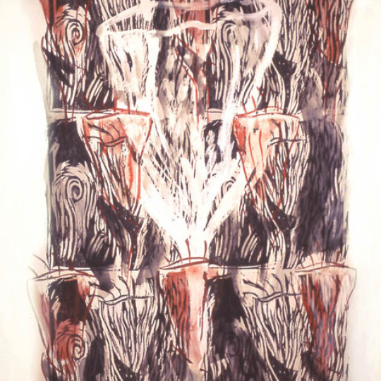 Acrilico sobre papel impreso, Rojo 1.20x1.65 c,m